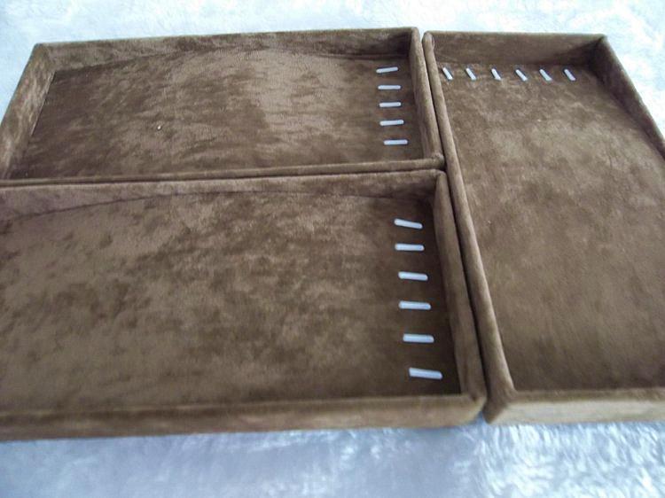 送料無料ブラックベルト3ピース/ロットブレスレットネックレスホルダートレイオーガナイザージュエリーディスプレイショーケース小さなジュエリーボックス
