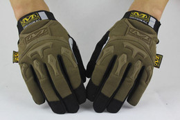 Wholesale Wearing Baseball Glove - Free shipping new sale MECHANIX Wear Tactical Gloves for Combat Work Army Military Racing Leather Motocross Gloves M-pack gloves 3color