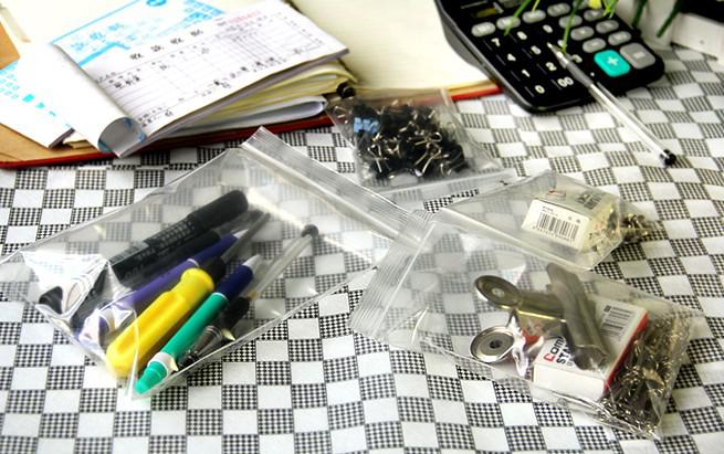 / 10 * 15 cm 11 * 16 cm 12 * 17 cm 13 * 19 cm 14 * 20 cm 15 * 22 cm en plastique refermable transparent sacs PE Zip Lock stockage des aliments bijoux bagues sacs