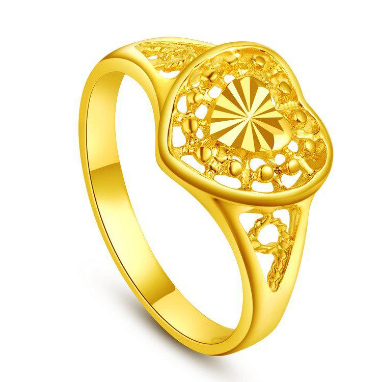 M Word Hollow Heart Shaped Flowers In Yunnan Imitation Gold