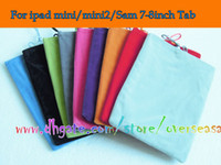 Wholesale Galaxy Mini2 - Universal soft charpie skin Sock pouch bag bags pouches case for Ipad mini & mini2 2 For Samsung Galaxy 7'' 8'' P3100 P3200 Tab 2 3 200pcs