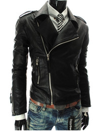 Wholesale White Leather Zipper Jacket Women - Free Shipping -NEW Assassin's Creed desmond miles Style cosplay leather jacket D2912
