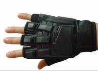 askeri taktik eldiven yarım parmak toptan satış-