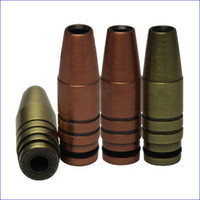 Wholesale military electronics for sale - Group buy Newest fashion design Bronze bullet drip tip coppery bullet mouthpiece metal drip tips for DTC cartomizer atomizer Military enthusiasts