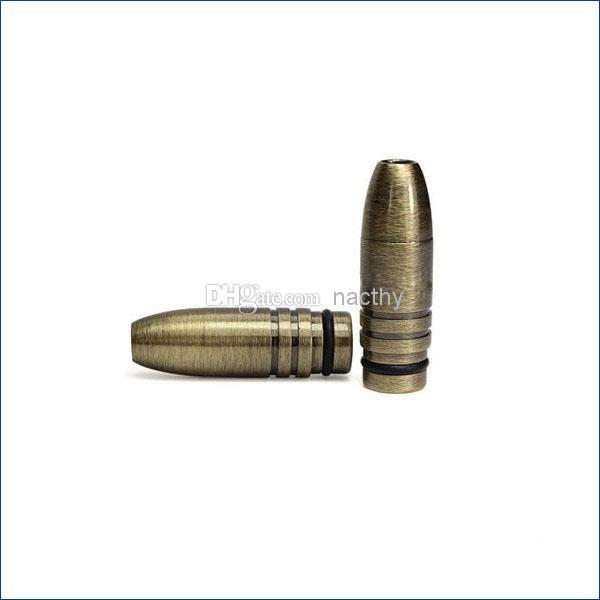El diseño más barato de la manera punta de goteo de la bala de bronce boquilla de bala cobriza boquilla metálica plateada puntas para ego-t ego-c ego-vv Cigarrillo electrónico