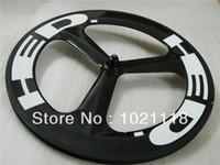 Wholesale Hed Spoke Clincher - New Hed 3 SPOKE 700C Clincher Tubular Front rear Carbon Wheels Rims 700C Wheelset glossy matte