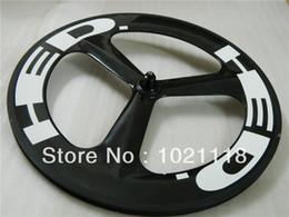 16 Rear Wheel Canada - New Hed 3 SPOKE 700C Clincher Tubular Front rear Carbon Wheels Rims 700C Wheelset glossy matte