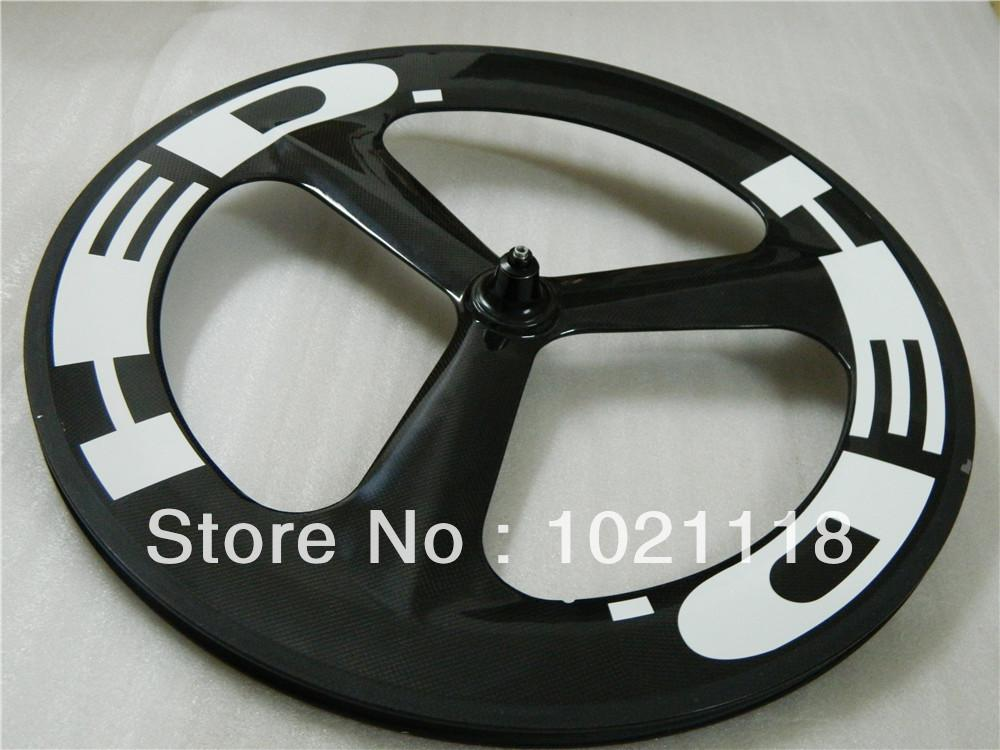 New Hed 3 SPOKE 700C Clincher Tubular Front/rear Carbon Wheels Rims 700C Wheelset glossy matte