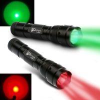 Wholesale Cree Red Hunting Lights - 2PCS UltraFire WF-502B CREE Q5 1-Mode 250 Lumens LED Flashlight Red Light+Green Light 18650 for Fishing, Hunting Free Shipping