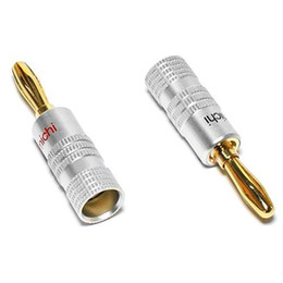 Wholesale Gold Plated Banana Plugs - S5Q 14 PCS Nakamichi 24K Plated Gold Audio Banana Plugs Speaker Cable Connectors AAAABQ