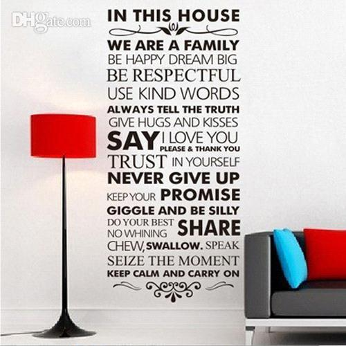 S5q Never Give Up House Rules Quote Removable Wall Decal Stickers Art Home  Decor Aaacah Stickers For Your Wall Stickers On The Wall From Digicnus, ...