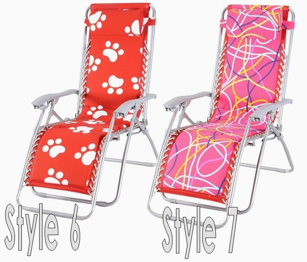 New fashion Beautiful flower letter recliner Metal Folding chair office bed room Living Room furniture 7 colors available