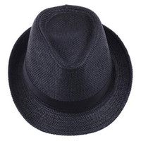 S5Q Unisex Mann-Frauen-Trilby-Kappe Mehrfarbiger Sommer-Strand Sun-Stroh Panama-Hüte AAACBE