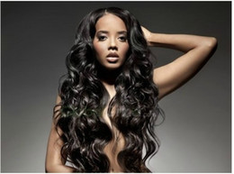 Wholesale Pure Virgin Lace Wigs - High Quality 7A 100% Peruvian Virgin Remy Hairl Color Black #1b #1 Hand Made 12-30 Inch Unprocessed Full Front Lace Wigs