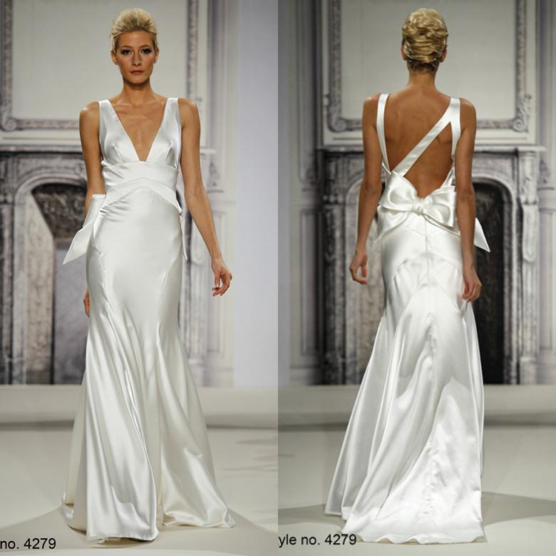 Ssj Pnina Tornai 2014 Vintage Plus Size Wedding Dresses Mermaid Deep