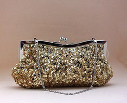 Wholesale Sequin Wedding Clutch - Hot Sale Manual Bags Woman's Evening Party Bag Sequins Bridal Wedding Bags