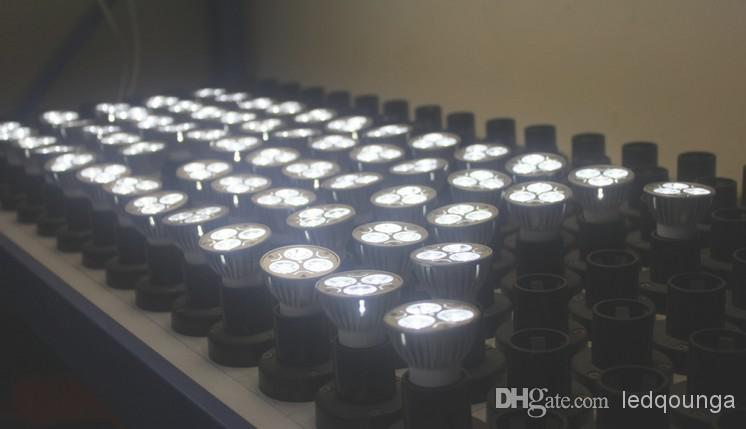 Hotsale E27 LED Bulbs Lighting 3W Spot Light Bulb Lamps 85-265V 3Watts CE ROSH Indoor Lights Spotlight WW NW CW Via Express