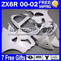 kawasaki branco ninja zx6r venda por atacado-7gifts Livre Personalizado branco brilhante Para 00 01 02 KAWASAKI ZX 6R 636 ZX6R NINJA MY775 ZX-6R 2000 2001 2002 ZX636 todas as Faixas brancas ZX-636