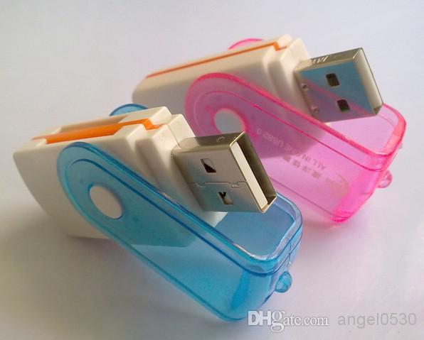 USB 2.0 All-in-One-SIM-Kartenleser MICRO SD MMC Dreh-förmig