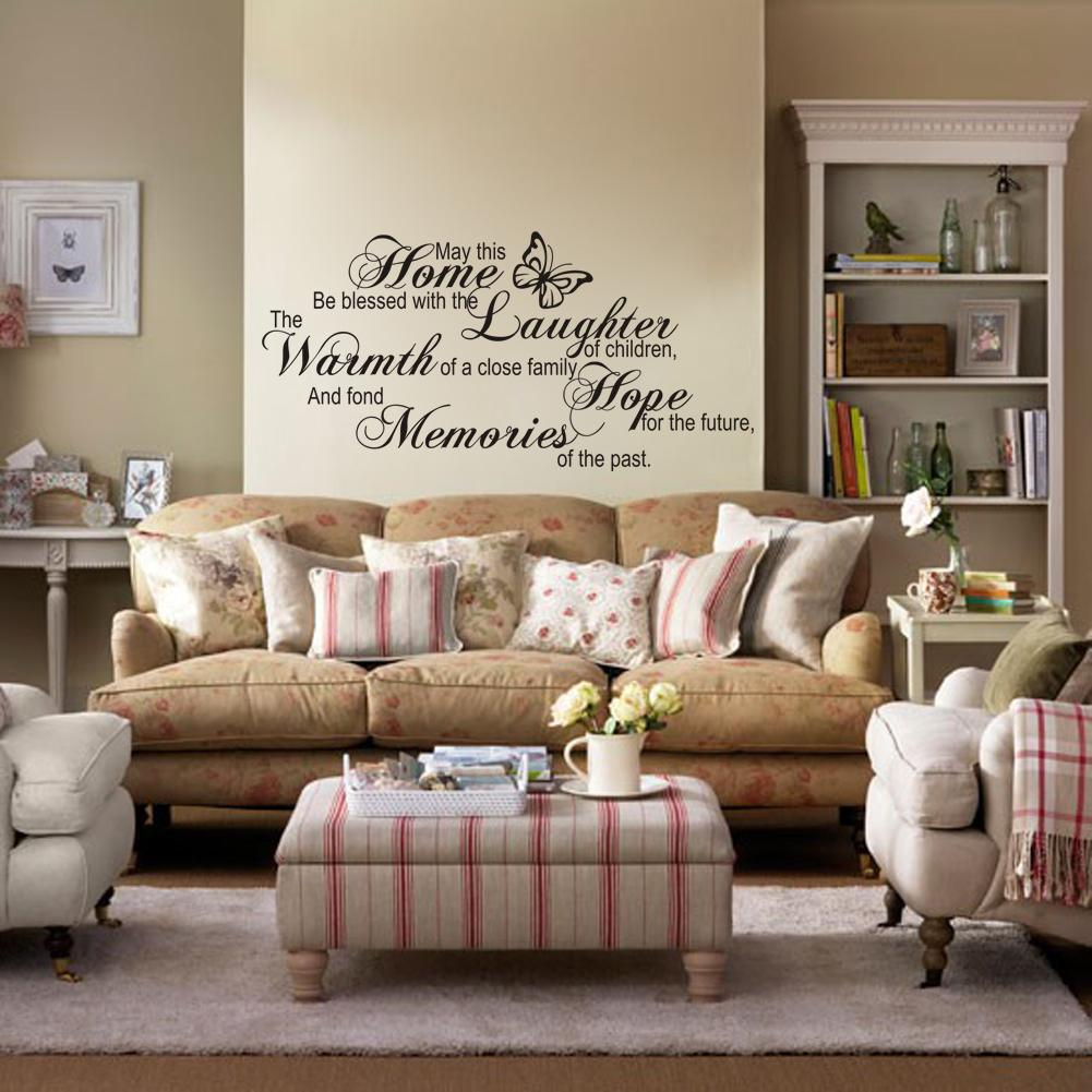 May this home english proverbs wall sticker vinyl wall decal quote may this home english proverbs wall sticker vinyl wall decal quote home living room decorations beautiful good quality cheap best new hot tree wall stickers amipublicfo Gallery