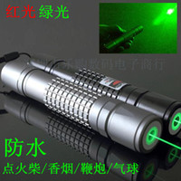 Wholesale Wicked Laser Pointer - 532nm Strong power military green red  blue violet laser pointer burn match candle lit cigarette wicked lazer torch+charger+gift box