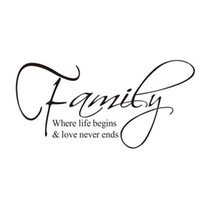 Compra Diy Quote Wall Art-S5Q fai da te Amore Famiglia Amore Decalcomanie Vinile Decal Wall Stickers Art Mural Decorazione Home AAABQA