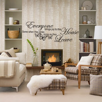Wholesale Cheap Pvc Wall Stickers - brings joy to this home English Proverbs Wall Sticker vinyl wall decal quote Home Living Room Decorations Beautiful New 2014 Best Cheap sale