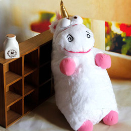 Wholesale Large Stuffed Animal Toys - S5Q Large Size Cute Cartoon Unicorn Plush Toy Fluffy Stuffed Animal Doll Figure Gift AAACBW
