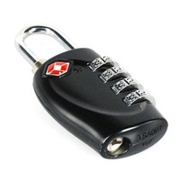 Wholesale Tsa Combination Padlock - S5Q 4 Dial TSA Combination Padlock Luggage Suitcase Bag Travel Security Lock New AAAAMW