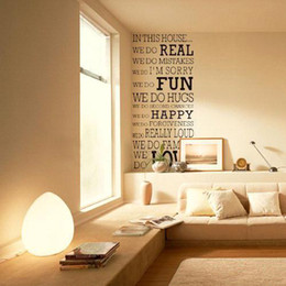 Wholesale Fun Wall Decals - S5Q Real Fun Love House Words Quote Removable Wall Decal Stickers Art Home Decor AAACAQ