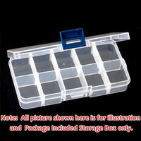 Wholesale Box Case For Nails Art - S5Q Home Empty Storage Portable Case Box 10 Cells For Nail Art Jewel Tips Gems AAAARX