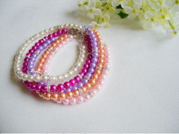 Wholesale Colorful Pearls Necklace - colorful pearl pet necklace cat accessories pet product diamonds dog necklace