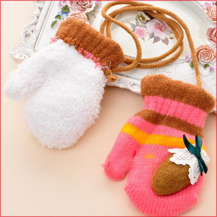 Julklappar! es Infant Baby / Barn / Småbarn Vinter tryckta fingerhandskar Kids Warm Mittens Gratis frakt Babyprodukt 4Mons-2Years