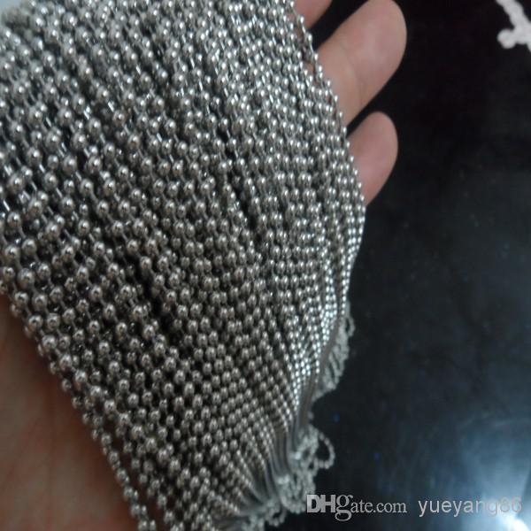 Shi libre! Joyería de cadena de bola de acero inoxidable de 10 metros que encuentra 1.5mm / 2mm / 2.4mm / 3.2mm / 4mm a granel