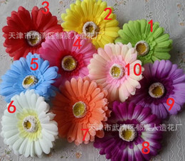 Wholesale Gerbera Fake Flowers - Simulation Gerbera Gerbera daisy artificial flowers wholesale silk flower fake flower corsage,(100pcs lot)