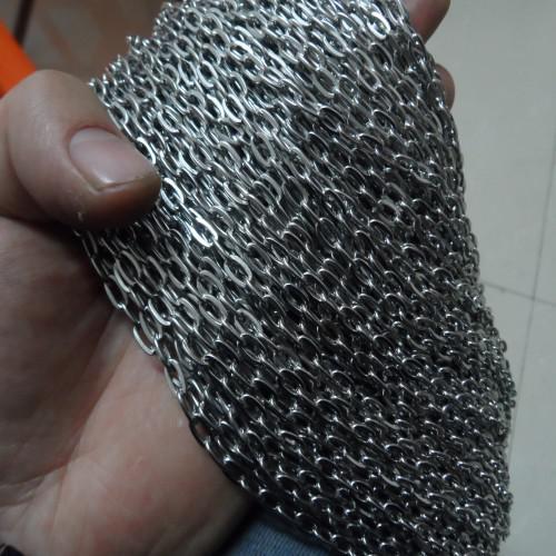 10 mètres en vrac en acier inoxydable 4.6mm chaîne à maillons bricolage collier bijoux trouver