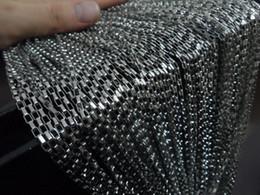 измерительная цепь Скидка Бесплатная доставка оптом 10 метров в длину box link chain серебро из нержавеющей стали 2.5 мм ювелирные изделия найти DIY