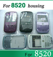 Wholesale Middle Blackberry - Wholesale - Full Housing for Blackberry 8520 Front Panel lens keypad Middle Board Back Door