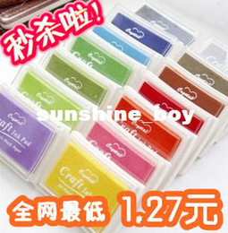 $enCountryForm.capitalKeyWord Canada - concave waist vermilion ink pad stamp pad ink color large sign finger painting 15 color