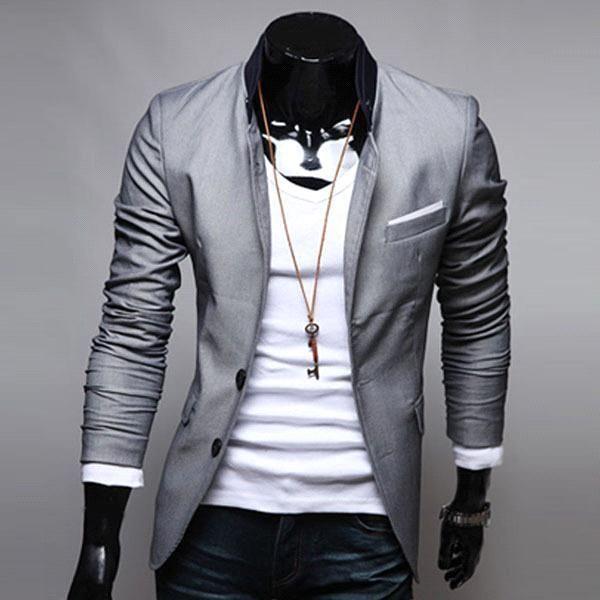 Best Quality S5q Mens Casual Clothes Slim Fit Stylish Suit Blazer ...