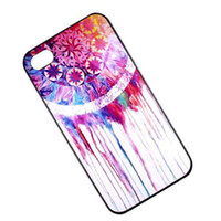 Wholesale Iphone Tribal Pattern - S5Q Dream Catcher Tribal Pattern Hard Case Back Cover Skin For Apple iPhone 4 4S New AAACGP