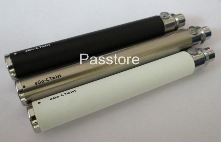 전자 담배 가변 전압에 대 한 eGo-c 트위스트 배터리 모든 시리즈 eGo 키트 E 담배에 대 한 3.2-4.8V 650mah 900mah 1100mah 무료