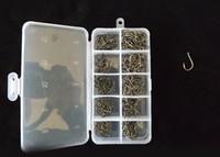 Wholesale Iseama Hooks - 500pcs  box 10size black nickle carp fishing Iseama hook wide mouth hook