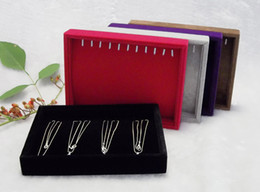 $enCountryForm.capitalKeyWord Canada - Ice Velvet Jewelry Box Necklace Display Cases Holder Necklace Tray [One Color from Red, Grey. Brown,Black,Purple]