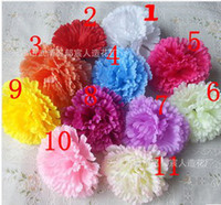 Wholesale Wholesale Silk Carnations Heads - Artificial flowers silk flowers carnation flower head making handmade DIY Style Fence