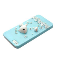 Wholesale Cute Iphone Skin Protector - S5Q 3D Cute Blue Dolphin Cover Case Back Skin Shell Protector For Apple iPhone 5 5S AAABYE