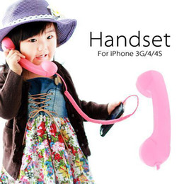 Wholesale Telephone Pop - S5Q Mic Retro POP Phone Handset TelePhone for Apple iPhone 4G 3G 3Gs Smart Phones AAAAXQ