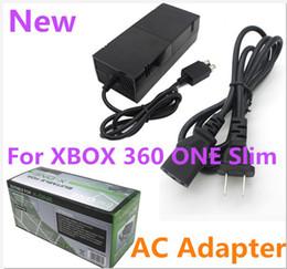 Preço de fábrica adaptador de energia ac para xbox 360 um adaptador de jogo fino acessório 220 v adaptador de corrente alternada carregador de energia em Promoção