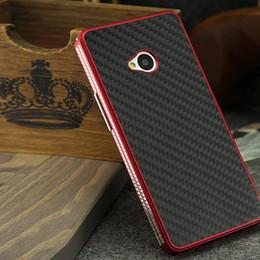 Wholesale M7 Aluminum - S5Q Luxury Aluminum Metal Carbon Fiber Material Panel Cover Case For HTC One M7 AAACCG