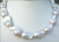Wholesale white pearls buy - Best Buy Pearls Jewelry CLASSIC NEW HUGE 22-25MM SOUTH SEA WHITE BAROQUE PEARLS NECKLACE 18INCHES 14K